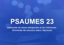psaumes 23 pour demande de richesse et de protection