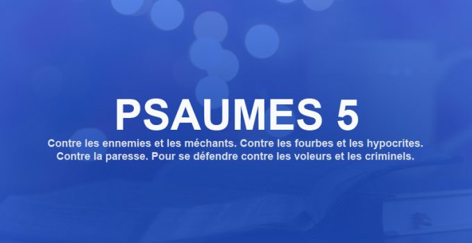 psaume 5