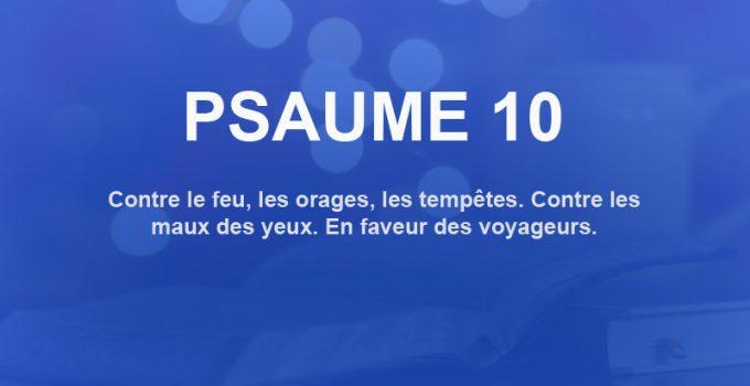 psaume 10