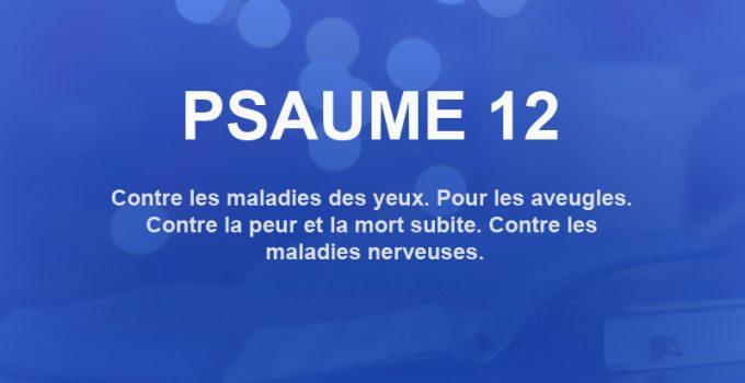 psaume 12