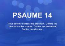 psaume 14