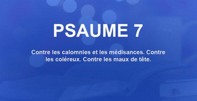 psaume 7