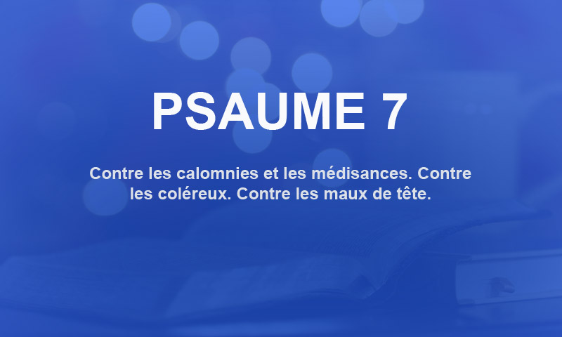 psaume 7