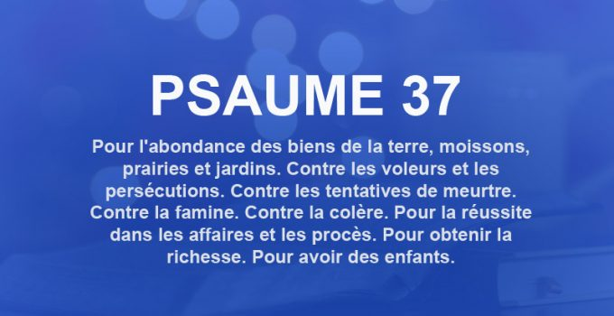 psaume 37