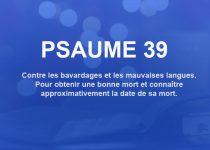psaume 39